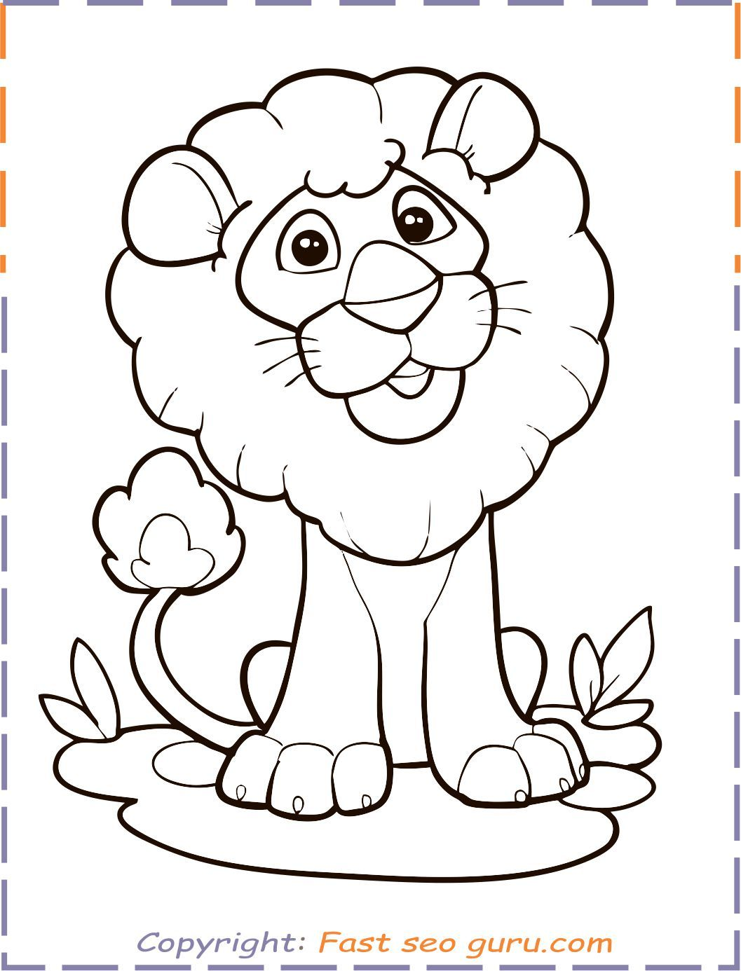 Lion Coloring Pages Simple And Advanced Lion Coloring Pages Animal Coloring Pages Jungle Coloring Pages