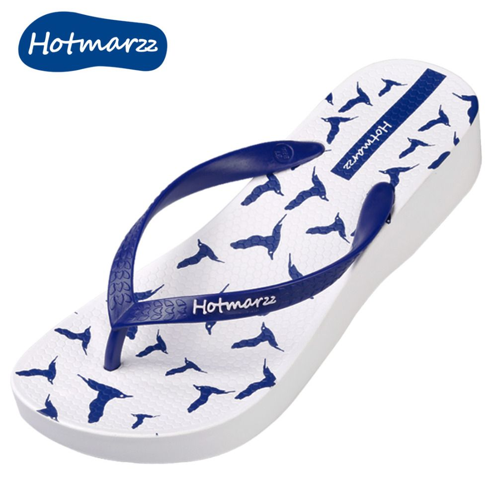 196508ee9b4 Find More Slippers Information about Hotmarzz Women s Fashion Platform  Wedge Flip Flops Seagulls Animals Beach Summer