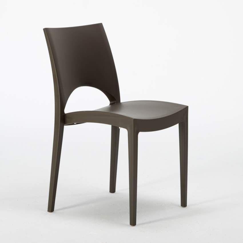Tavolino Quadrato Bianco 70x70 cm con 2 Sedie Colorate
