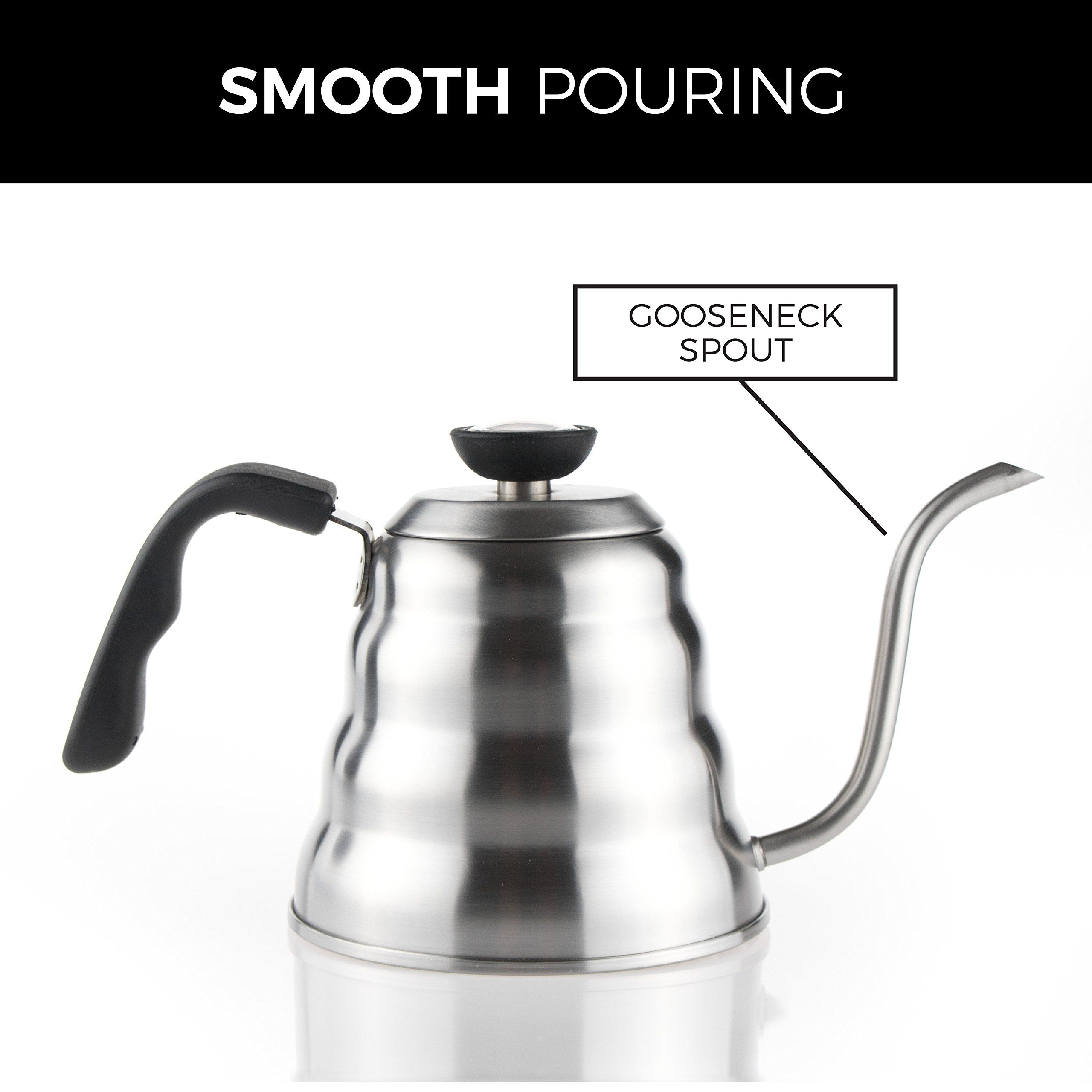 Bocha pour over drip coffee and tea kettle stainless steel with