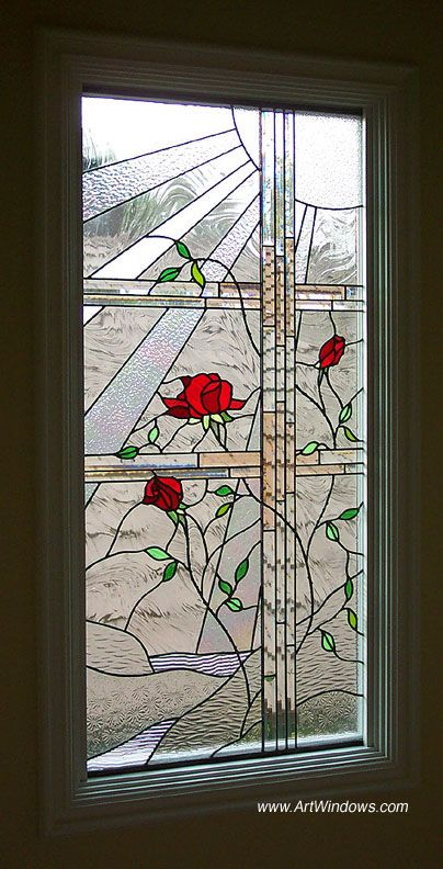 Roses On A Trellis Stained Glass Rose Stained Glass