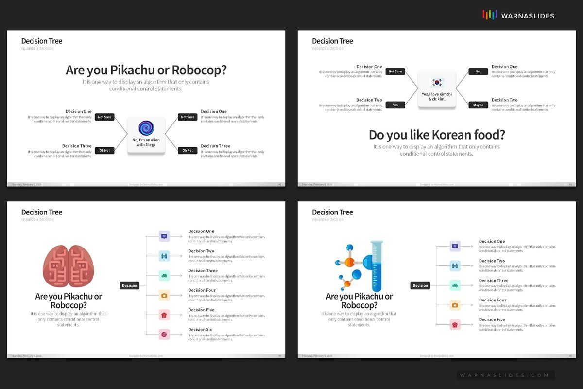 Decision Tree Powerpoint Templates In 2020 Decision Tree