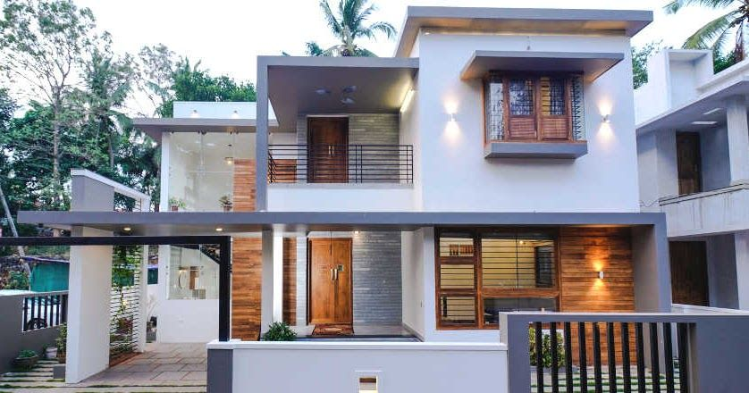 Small Plot 4 Bedroom Smart Home Design With Plan Small Plot Contemporary Home With Free Plan Kerala House Design Smart Home Design Duplex House Design