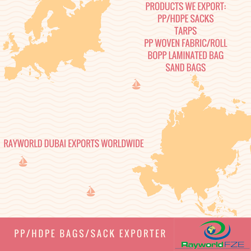 Rayworld Dubai Deals In Various Pp Woven Products Like Pp Bag Pp Woven Fabric Various Types Of Tarpaulins Sand Bags Etc Visit Our Woven Sack Bag Woven Bag