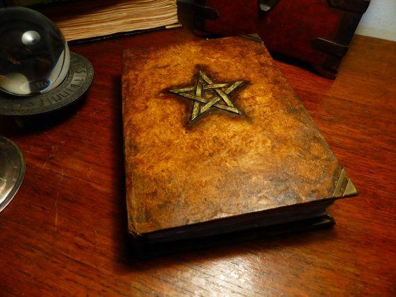 book of shadows grimoire journal scrap album blank by winklebooks