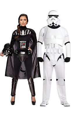 Adult Sassy Darth Vader   Stormtrooper Couples Costumes - Star Wars ... 6dcf70a9373