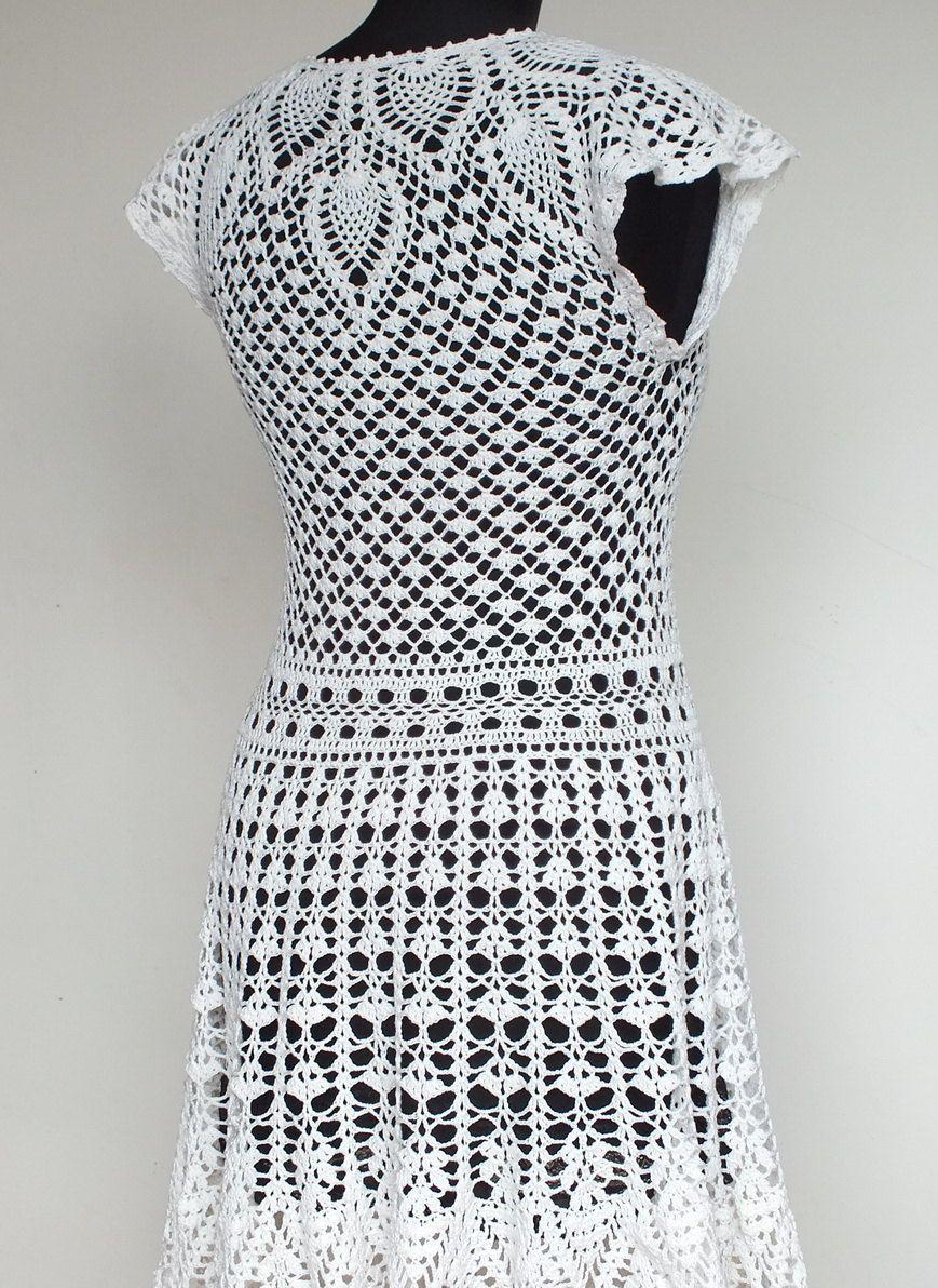 Knitted wedding dress  Knitted dress Natalie womenus dress knitted by VeraShevchenko  DIY