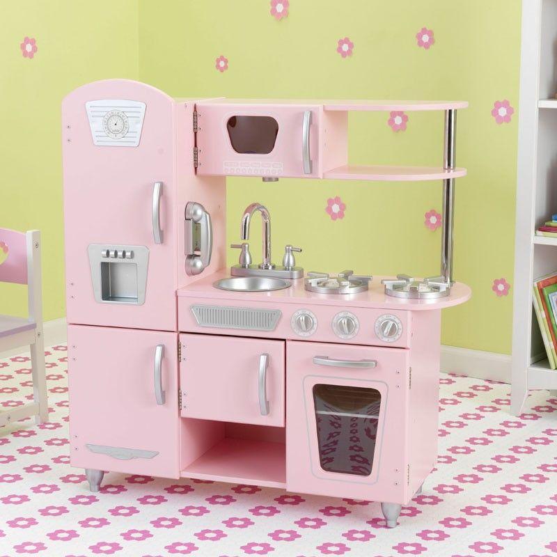 f5680bb30550d Cocinita estilo vintage de juguete de la marca Kidkraft para juegos de niños  y niñas. Perfecta para decorar habitaciones de niños. Gran calidad y  detalles.