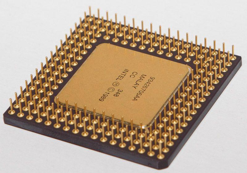 Underside of an Intel 486 Proc...