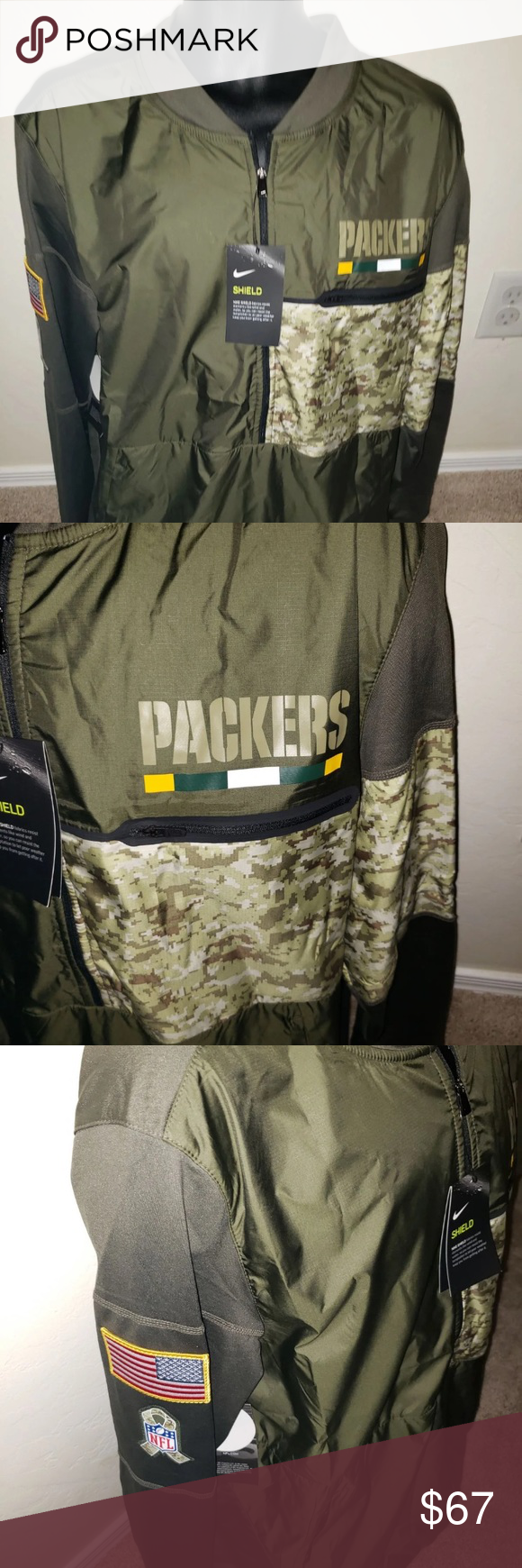 Nike Men's Salute to Service Packers L New Green Bay Packers Large Salute to service jacket zip up Nike Jackets & Coats #salutetoservice Nike Men's Salute to Service Packers L New Green Bay Packers Large Salute to service jacket zip up Nike Jackets & Coats #salutetoservice
