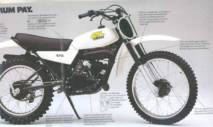 1979 Yamaha Mx175 Trail Bike Basically A Dt175 Stripped Of Lights Yamaha Dirt Bikes Motorcyle Cafe Bike