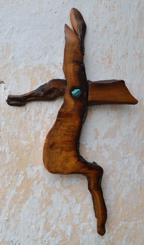 Morušový kríž s tyrkysom