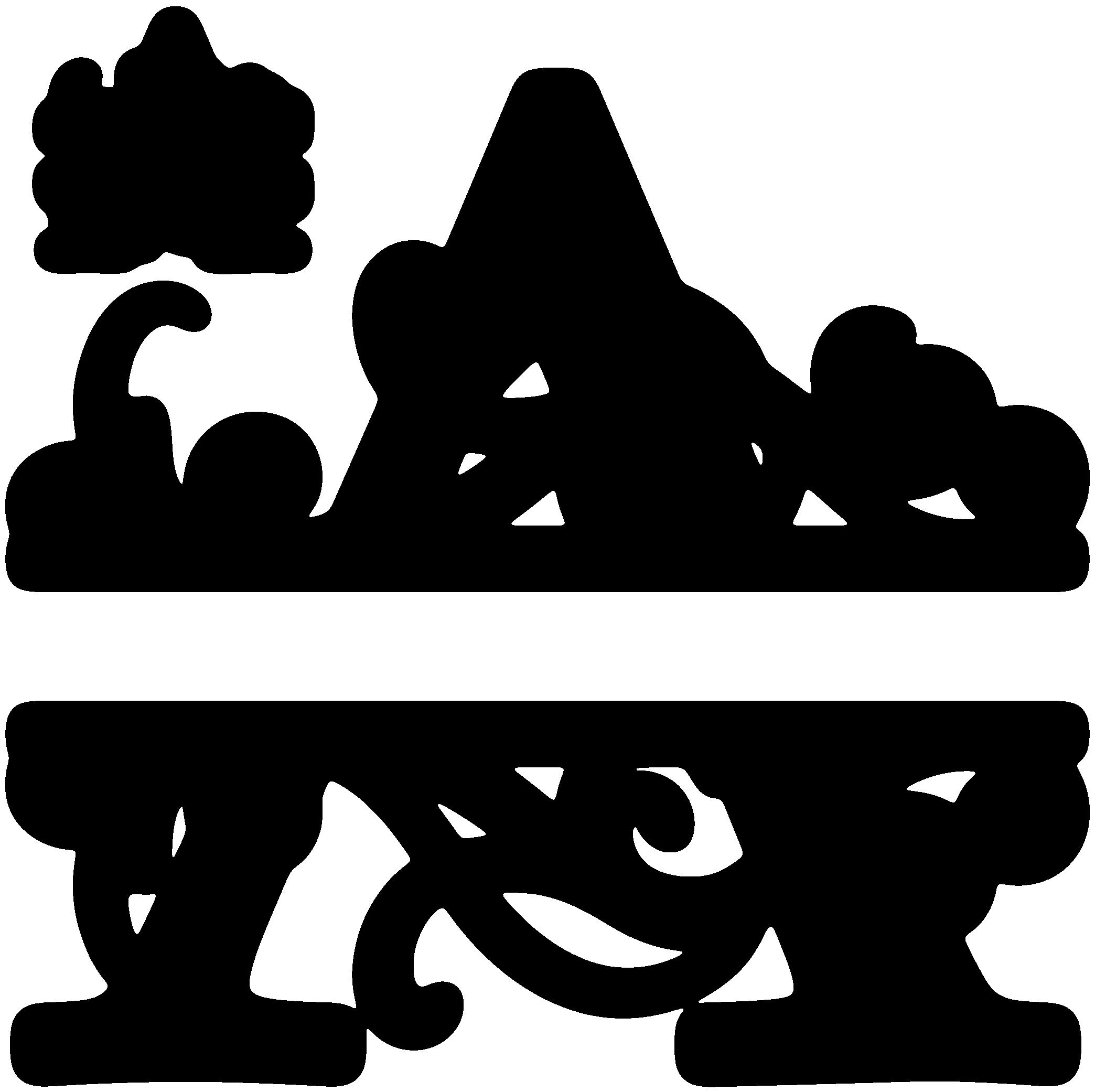 A split monogram svgs pinterest monograms cricut for W and p design