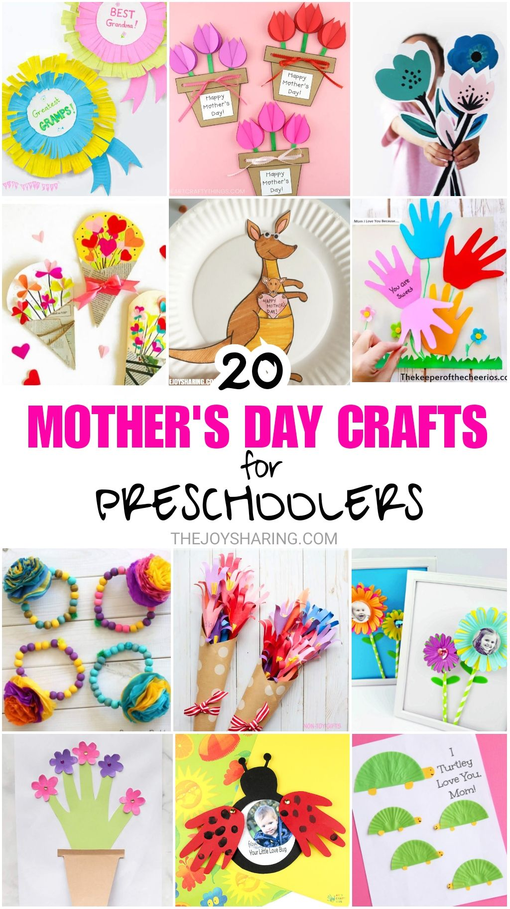20 Mother S Day Crafts For Preschoolers