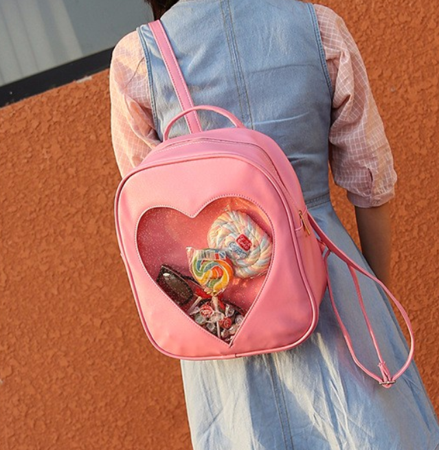 80c217922f Clear Glitter Heart Cutout Backpack   Price   26.99   FREE Shipping ...