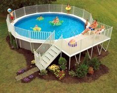 Pool Deck Designs For A 24 Round Above Ground Plans Deck Best Above Ground Pool Above Ground Swimming Pools Backyard Pool