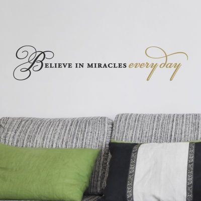 Believe in Miracles Everyday Wall Vinyl, large