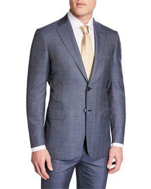 Brioni Men S Plaid Wool Silk Two Piece Suit In 2020 Brioni Men Suits Mens Plaid