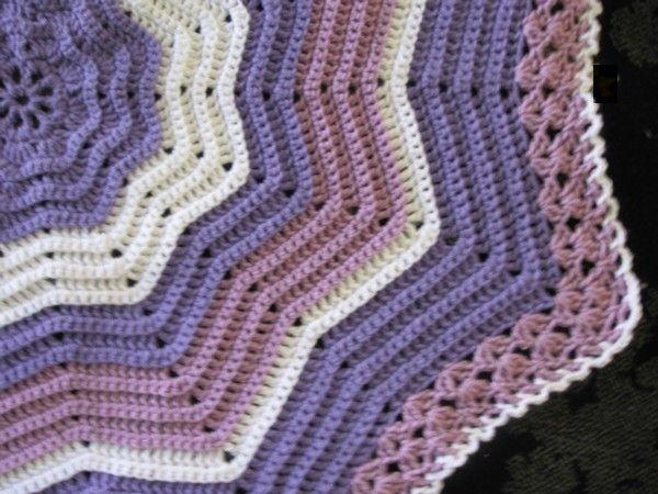 Round Adelina Rose Ripple Baby Afghan Crochet Pattern Crochet