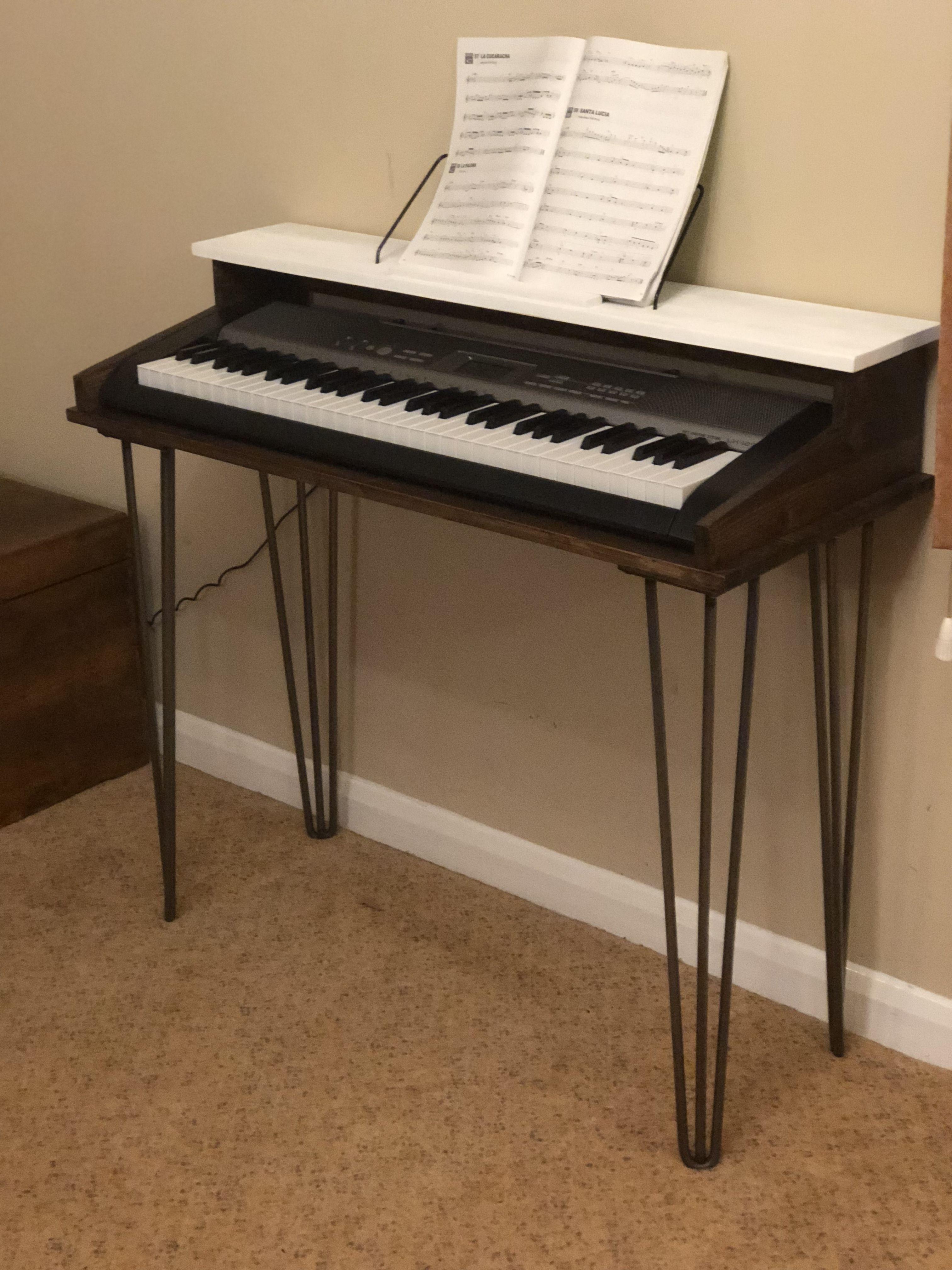 Custom Piano Keyboard Stand Diy Piano Decor Piano Piano Table