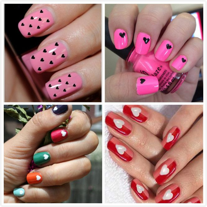 Valentine heart nail design beautiful heart nails style for 14 do you want to see beautiful nail art designs 2013 then check out this post these nail art designs 2013 are beautiful and attractive prinsesfo Image collections