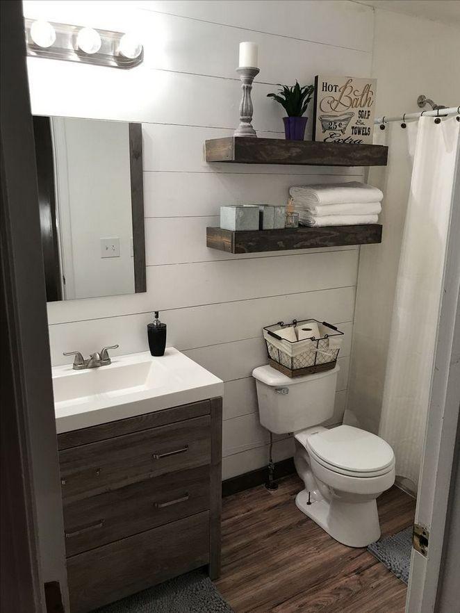 Bathroom Remodel Small Diy Half Baths Powder Rooms Ideas Restbytes Com With Images Guest Bathroom Small Bathroom Shelf Decor Bathroom Remodel Small Diy