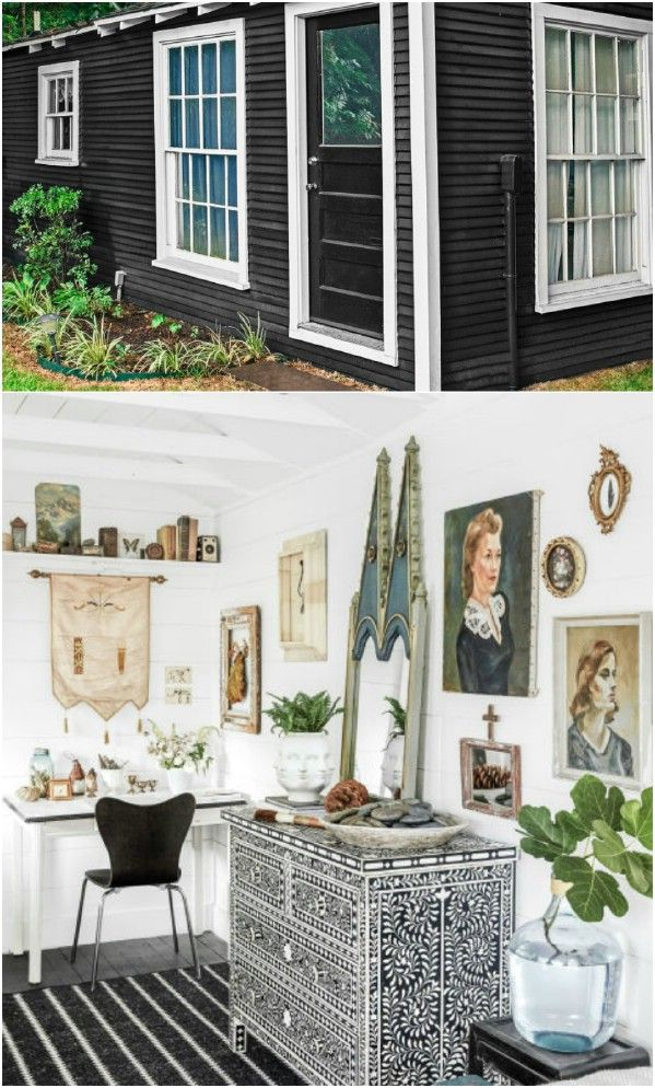 Paige Morseu0027s Backyard Shed Guesthouse   Top 80 Gorgeously Comfortable She  Sheds And Backyard Tiny Houses
