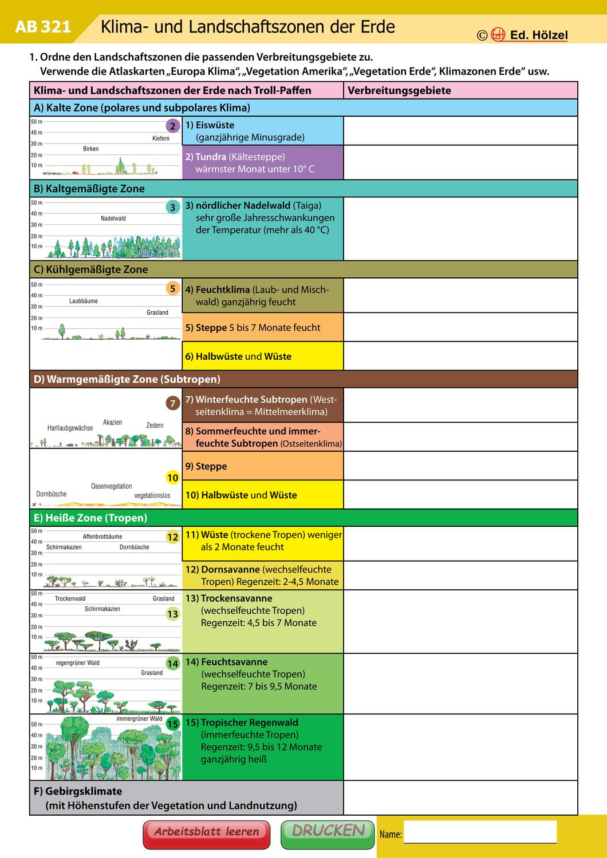 Klimamaterial Klima  und Landschaftzonen der Erde ...
