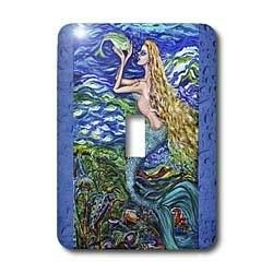 Mermaid Caring for Her Pet Fish. Single Toggle Switch  $14.80 www.MermaidGardenOrnaments.com