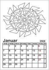Ausmalkalender-Vorlagen - Kinderkalender 2015 zum Ausmalen