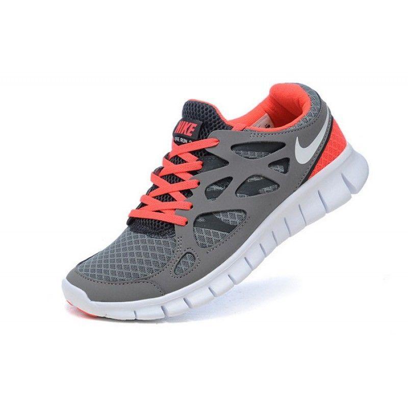 promo code 17651 4dad0 Nike Free Run 2 Grey Coral White 443816-016 Women
