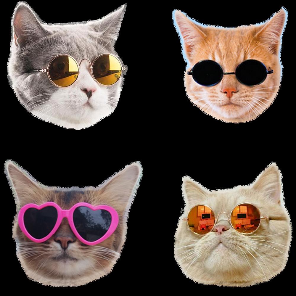 Cool Cats Sticker By Eliseccv White 3 X3 Cat Stickers Cat Art Print Cat Sticker Set