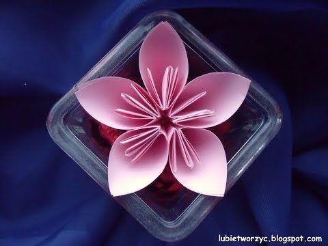 Bardzo Prosta I Realistyczna Roza Z Papieru 6 Youtube Floral Rings Origami Floral