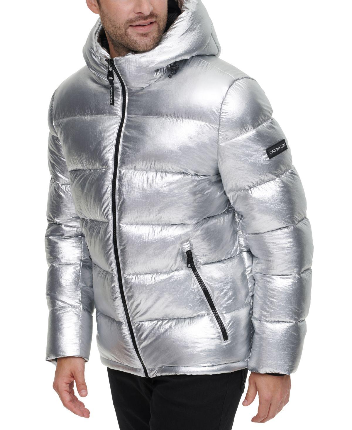 Calvin Klein Men S High Shine Puffer Jacket Reviews Coats Jackets Men Macy S In 2021 Mens Puffer Jacket Puffer Jackets Shiny Jacket [ 1466 x 1200 Pixel ]