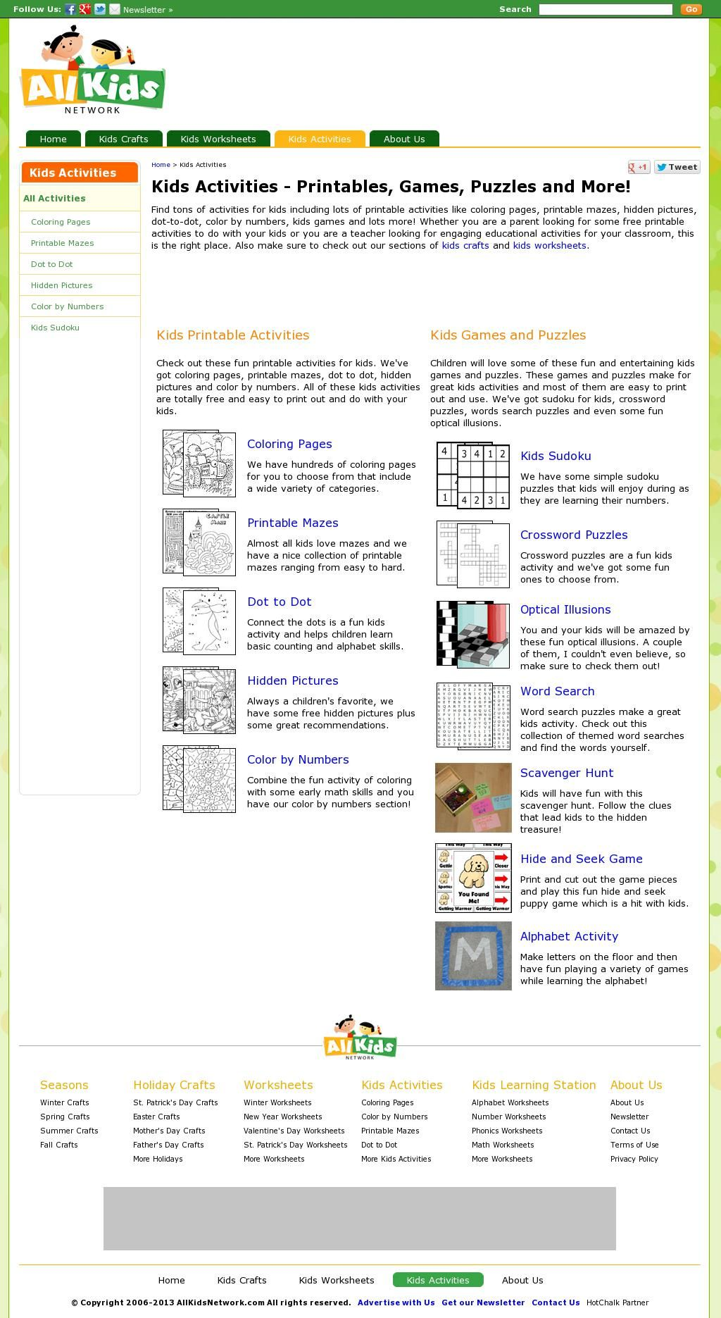 All Kids Network - worksheets for everything   Activities