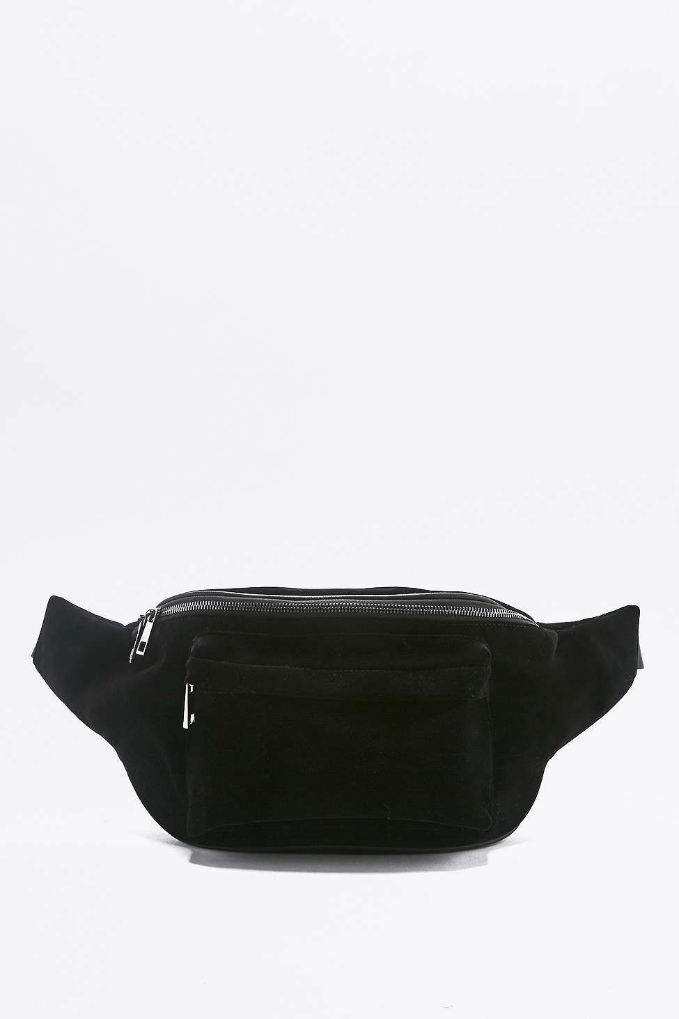 ec4d99ac4170 Black Velvet Oversized Cross-Body Bum Bag | Back to Uni | Bags, Bum ...