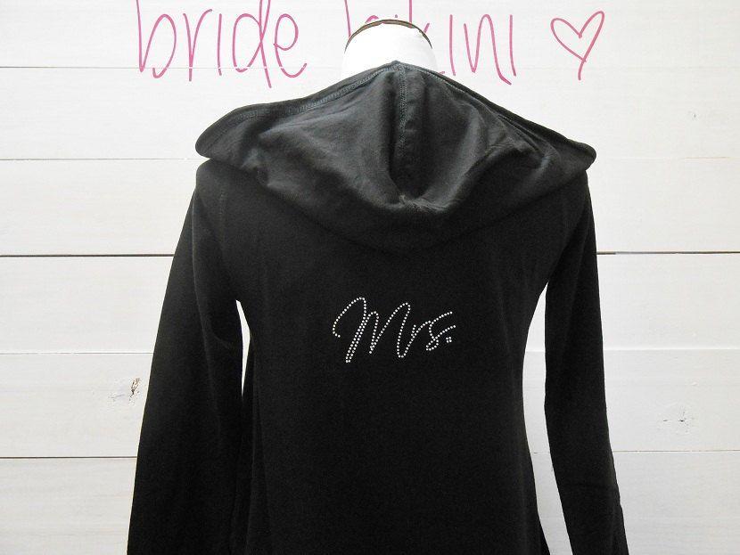 Mrs Hoodie. Bride Hoodie Sweatshirt. Zip Up Hoodie. by BrideBikini, $24.99
