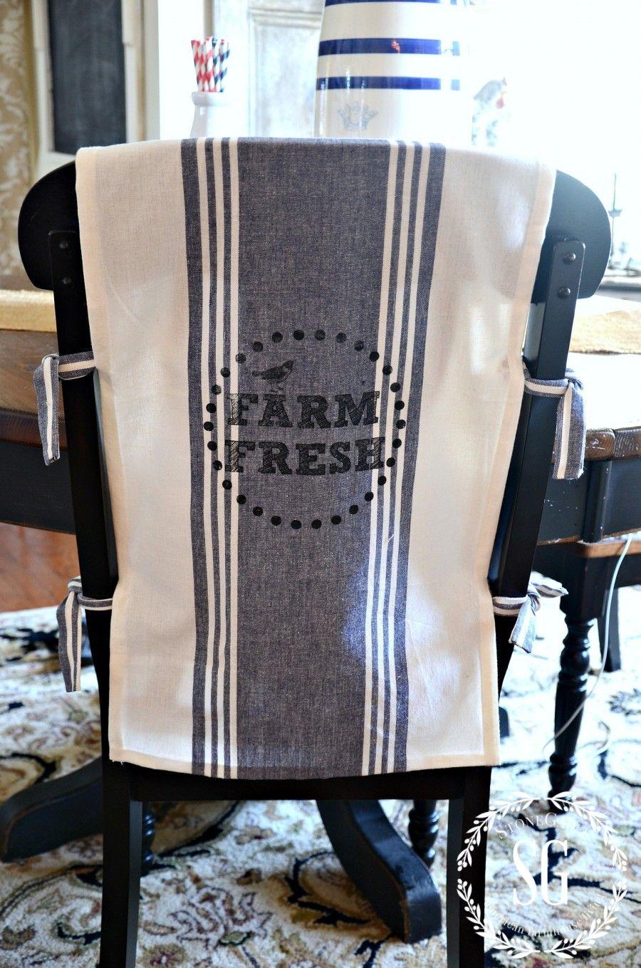 No Sew Chair Back Covers Farm Fresh Stonegableblog Com Chair Back Covers Slipcovers For Chairs Chair Backs