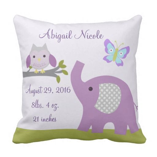 Want to try to make this--Nursery Dreamland Owl/Elephant Pillow Keepsake