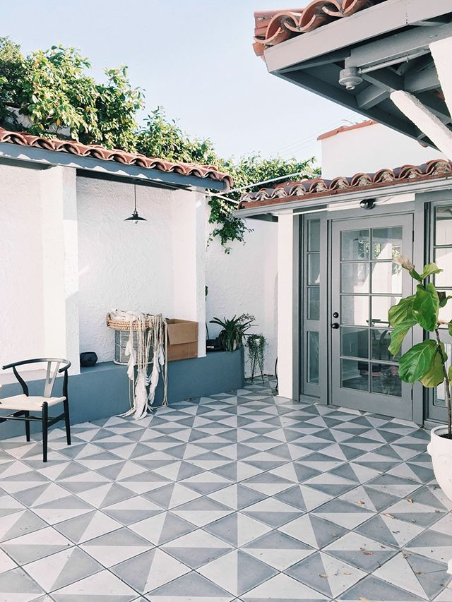 Project Staycation Patio Sarah Sherman Samuel Patio Tiles Outdoor Patio Diy Patio Design