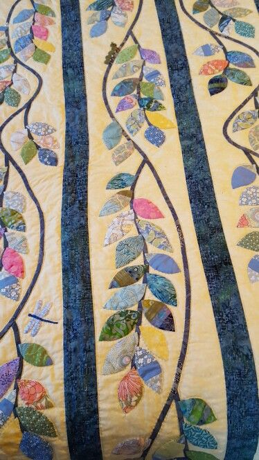 My vine quilt, inspired by Susan McCord's vine quilt.