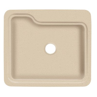 "Transolid Portland 25"" x 22"" Single Bowl Kitchen Sink Finish: Matrix Khaki"