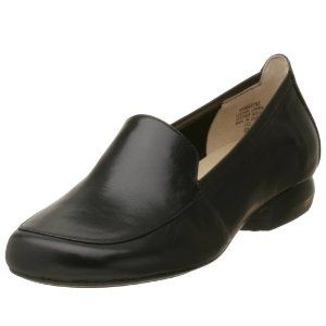 AK Anne Klein Women's Maxine Loafer,Black Leather,8 M (Apparel)