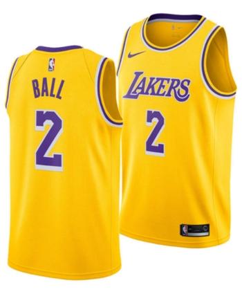 a3fc1aa3b Nike Men s Lonzo Ball Los Angeles Lakers Icon Swingman Jersey - Gold XXL
