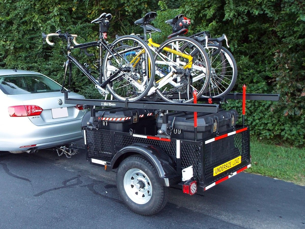 Take Bikes With You Camping This Lowes 3 5 X5 Utility Trailer