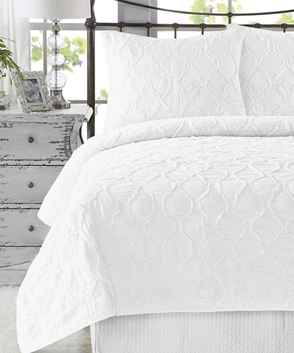 Take A Look At This Bright White Wavy Handcrafted Ruffle Three