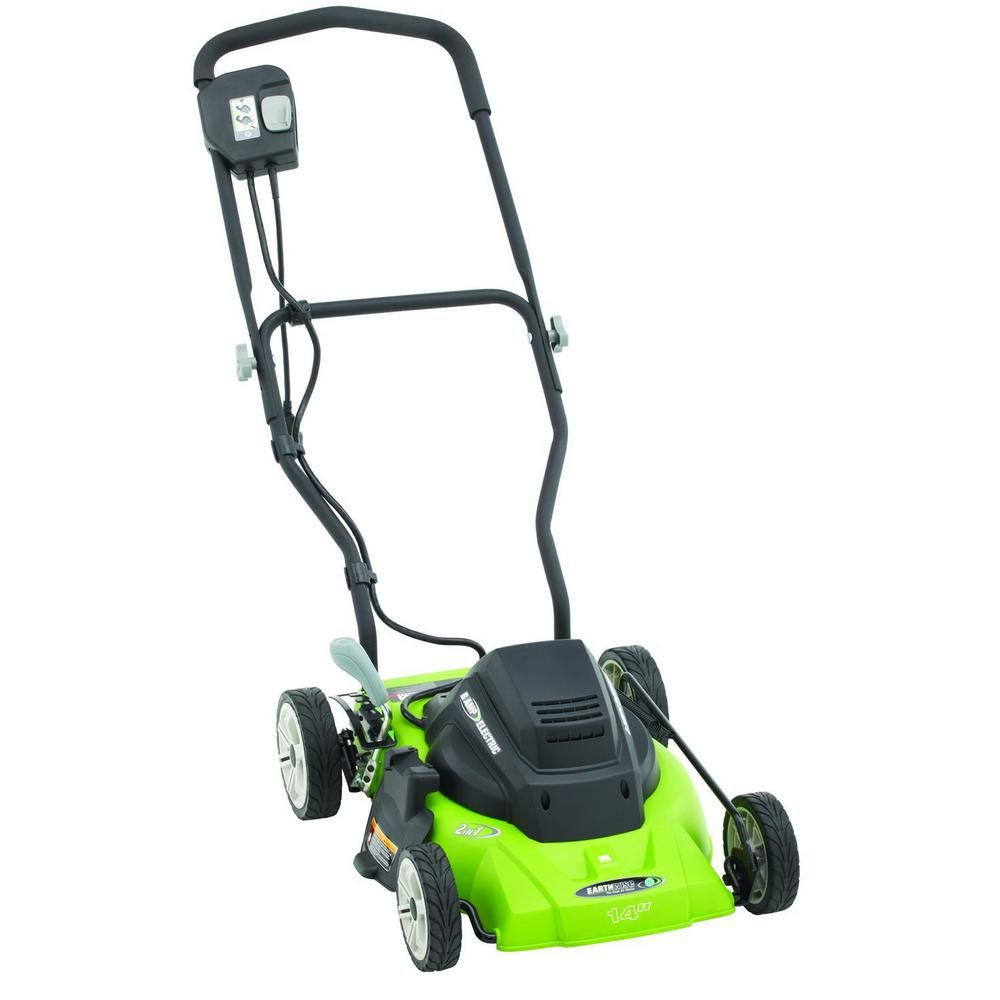 Earthwise 14 In 120 Volt Corded Electric Walk Behind Push