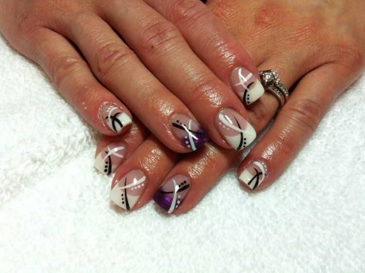 French manucure gel: 30 idées sublimes pour adopter l'ongle french | Manucure gel, Modele deco ...