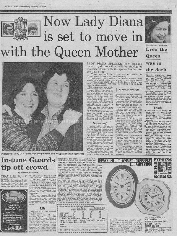 Memories Of Diana Royal Engagement Announcement