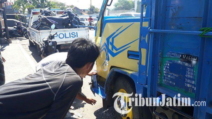 Kecelakaan Dump Truk Dan Sembilan Motor Di Kletek Sidoarjo Tewaskan Satu Orang Ini Identitas Korban Polisi